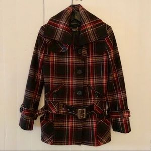 Victoria's Secret MODA International XS coat plaid